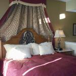 comfy bed in one-bedroom condo