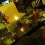 Cocktails y aperitivo de cortesia