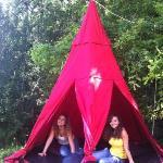 Toiles de tentes suspendues pour nuit insolite