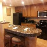 The kitchen in our suite