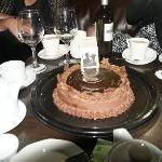 Chocolate cake from Battlesteads' owner Dee: yum!