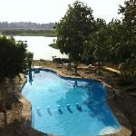 View of the lovely pool bordering the NIle