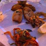 Tintenfisch gebraten - kam lauwarm an den Tisch