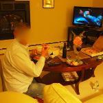 Pizza essen, wie zuhause :))