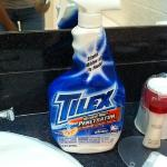 the bottle of TILEX the front desk sent to clean my tub when we arrived with it filthy!