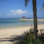 Uitzicht vanaf de strandstoelen