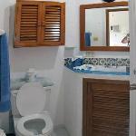 Bathroom in unit 10.