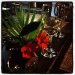 Decoração do jantar com chefe Maria !