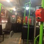 how bus line 100 look inside , this is the bus to the hotel
