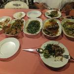 Our banquet already half eaten