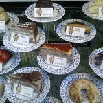 just a couple of most delicious pastry in the shop-window
