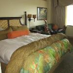 Our comfy bed and spacious room