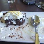 chocolate tort (half eaten)