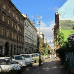 The Kiraly street and the playing ground