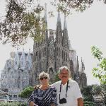 Paul and Louise in frony of Sagrida Familia