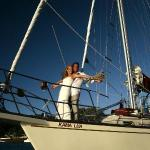 Marriage on the boat. Yes we do weddings, and take couples out into the bay to propose, and get