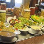 Le buffet des salades