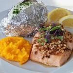 Pecan encrusted Salmon
