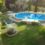 La piscina ( non calda ) dell'albergo