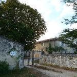 The hotel gate