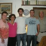 Shelly, Grazia, Giovanni, Filippo (our hosts) and Steve