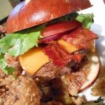 Wadmalaw Burger on Pretzel Roll