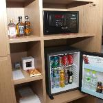 Stocked mini bar