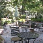 Outside tables for happy hour or breakfast
