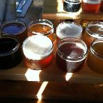 8 beer sampler (4 CreekSide & 4 guest)