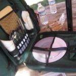 The pic nic basket (backpacking) left in the room :-)