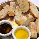 Bread with balsamic and olive oil