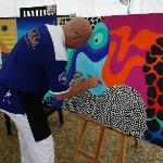 Artist Chris Hogan at Anantara Elephant Polo