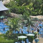 Overcrowded water park