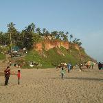 Blick auf die Chalets vom Strand !