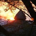 puesta de sol en serena serengeti lodge