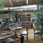 "The ""cafe"" interior"