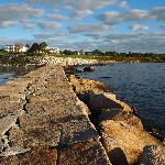 View from the breakwater towards Samoset