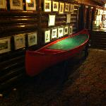 Canoe on 2nd floor mezzanine