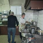 Angelo and Graziella preparing a special meal