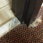 Carpet @ bathroom door