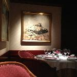 My favorite painting in the restaurant aptly called Galleries