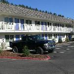 le parking de l'hôtel