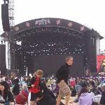 O palco do Bamboozle festival ficava na praia - maio/12