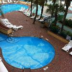 Pool area viewed from our room. This is waterpark side, but I didn't snap a photo of it.