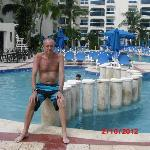 John by the pool