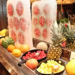 Breakfast buffet fruit bar