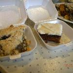 Shoofly pie and applebread cake