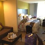 Our suite, don't mind the mess!