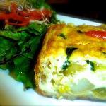 Frittata and Lotus Salade