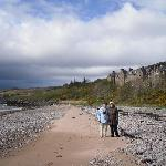 The beach in front of the Gairloch Hotel